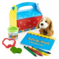 I Love Puppies Party Favor Box Filled
